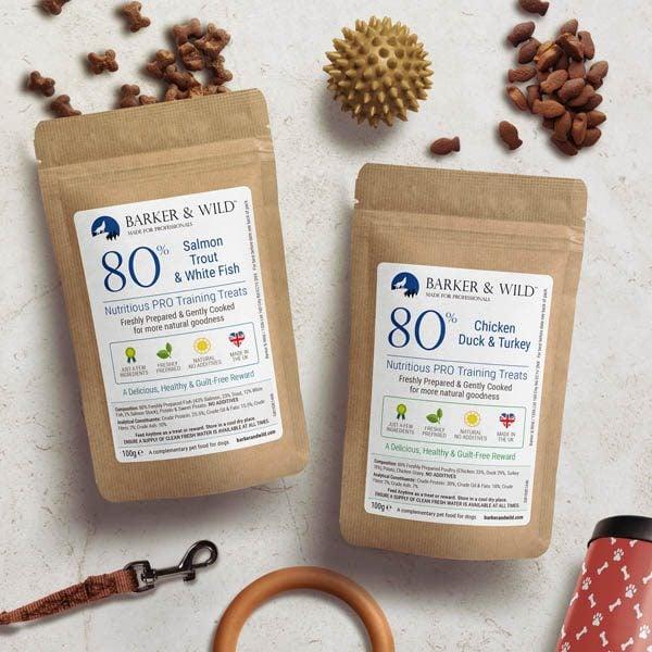 Dog Training Treats by Barker & Wild - 2 x 100g packs of freshly prepared dog training treats